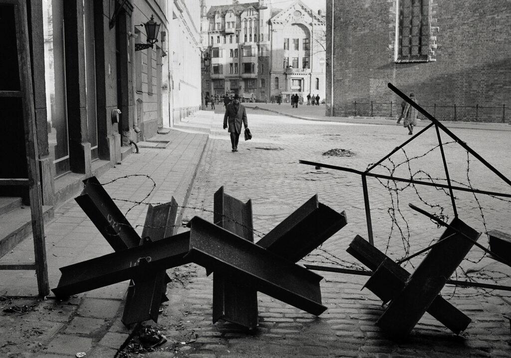 Barrikaden in Lettland 1991